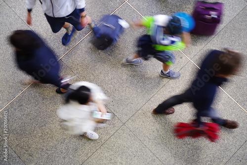 Menschen in der Stadt Fototapete