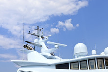 Top Of Super Yacht With Radars...