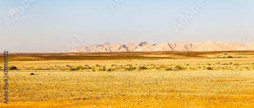 Tuinposter Midden Oosten Desert mountain range cliffs landscape view, Israel nature.