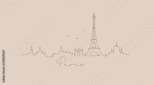 Pen line silhouette paris beige - 200169034
