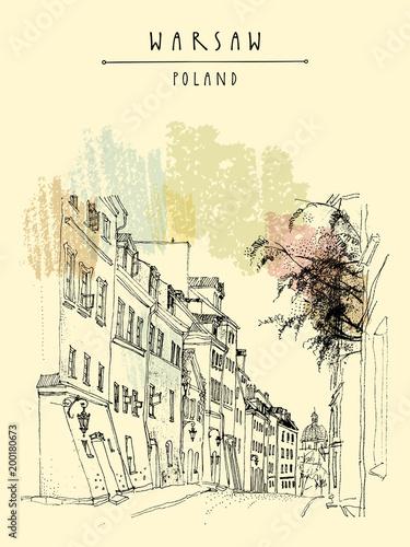stare-miasto-w-warszawie-polska-europa-brukowiec-ulica-w-dziejowym-miasteczku
