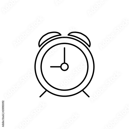 alarm clock icon  Element of simple icon for websites, web design