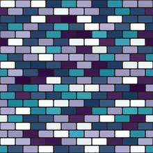 Brick Wall Pattern. Seamless Vector