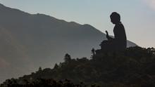 Big Buddha Tian Tan Buddha, The Tian Tan Buddha Statue Is The Large Bronze Buddha Statue, Ngong Ping, Lantau Island, Hong Kong.