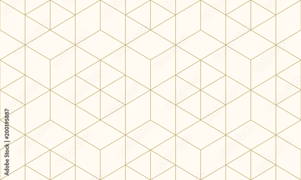 Fototapety, obrazy: Pattern geometric gold line seamless luxury design abstract background.