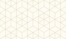 Pattern Geometric Gold Line Se...