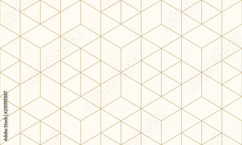 fototapeta na szkło Pattern geometric gold line seamless luxury design abstract background.