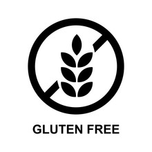 Gluten Free Sign Isolated Vector