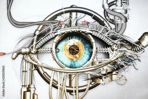 representation of bionic eye Wallpaper Mural