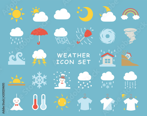 Fototapeta 天気のアイコンセット obraz