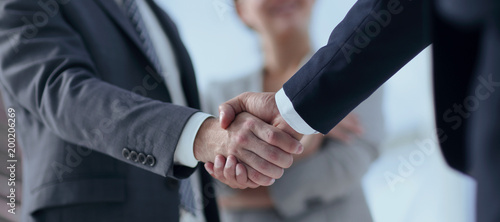 Foto closeup of handshake of business partners