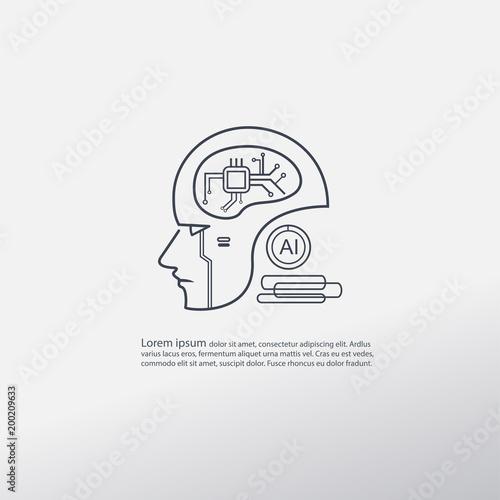 Robotics Ai Logo Artificial Intelligence Futuristic Concept Buy