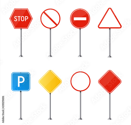 Creative vector illustration of road sign isolated on background. Art design. Abstract concept graphic element. Mockup template for a text. Highway traffic blank plate