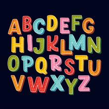 Cute Hand Drawn Alphabet Made ...
