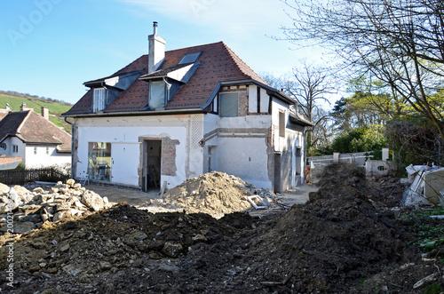 Umbau Haus umbau haus, renovierung - buy this stock photo and explore similar