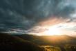 Sonnenuntergang über Neuffen