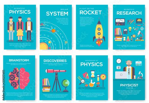 Fotografía  Technical minds brochure cards set