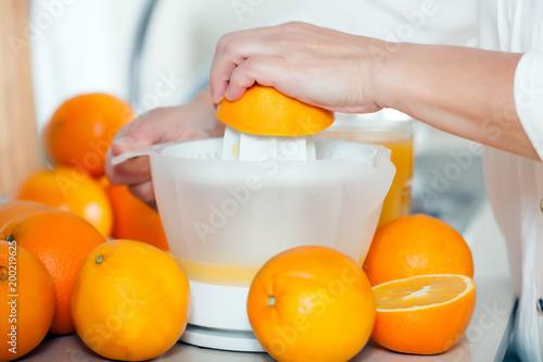 Fotografie, Obraz  preparation of citrus juice