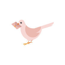 Postal Dove Carrying Letter In...