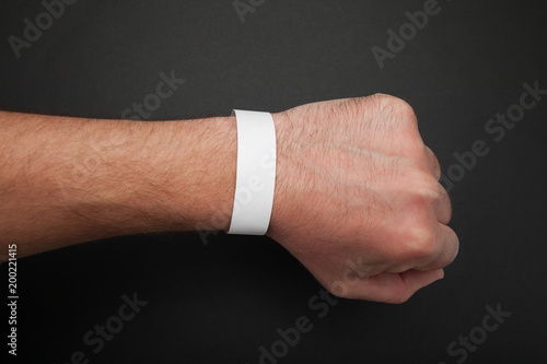 Fotografía  Empty event ticket wrist band design