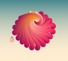Flying Abstract Form. Vector A...