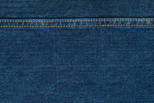 Blue Jeans Cloth With Seam. Ba...