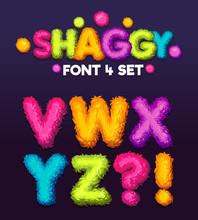 Shaggy Font 4 Set Cartoon Lett...