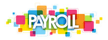 PAYROLL Colourful Letters Icon