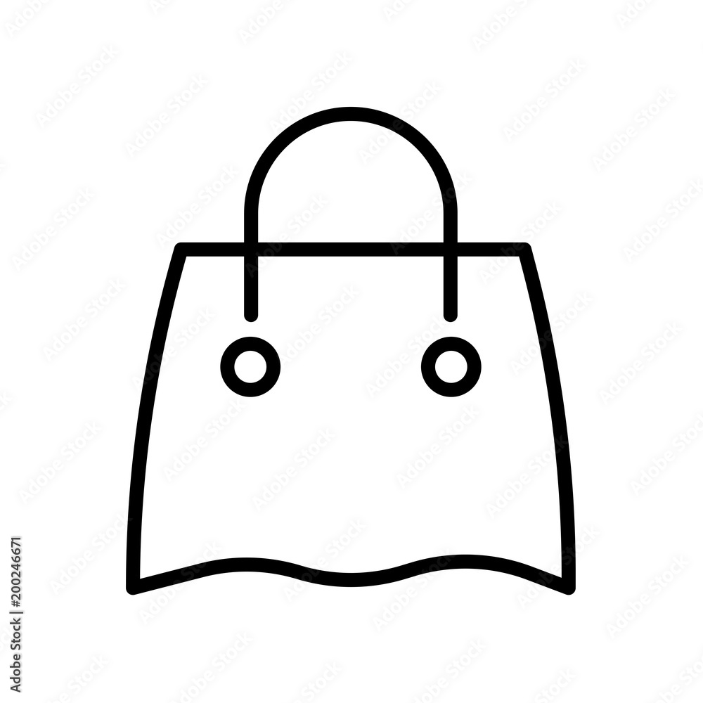 Reusable Shopping Bag Icon Isolated On White Background Foto Poster