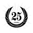 25 years anniversary. Elegant anniversary design. 25 years logo.