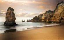 Atlantic Coastal Landscape At Long Exposure Photography