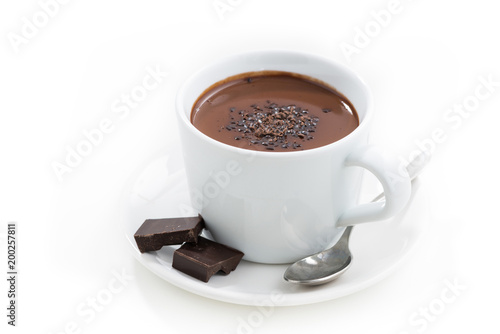 Spoed Foto op Canvas Chocolade hot chocolate in a cup