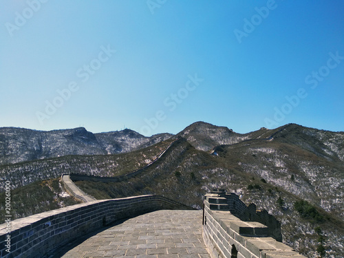Fotobehang China Great Wall of China. Badaling Ancient Great Wall close to Beijing.