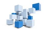 blue cubes construction