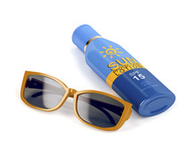 Sunglasses And Sunscreen