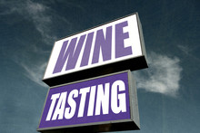Aged And Worn Wine Tasting Sign
