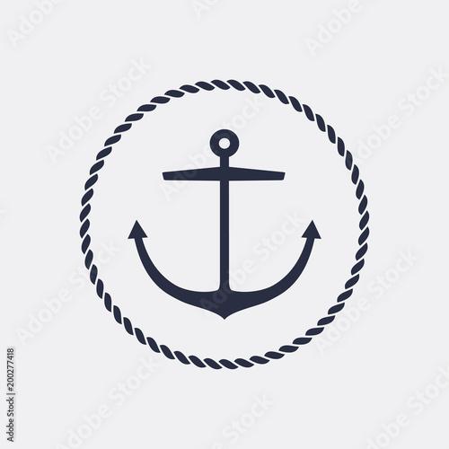 Leinwand Poster Anchor emblem