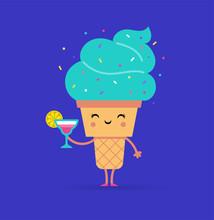 Sweet Summer - Cute Ice Cream Character Makes Fun
