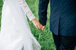 canvas print picture hold hands, wedding ceremony