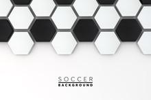 Soccer Ball Hexagon Background...