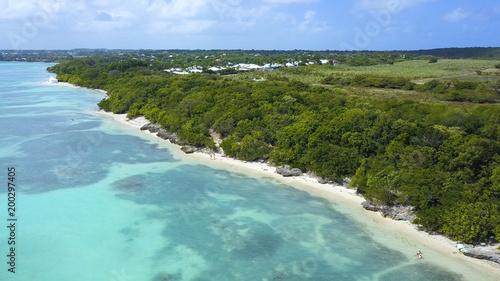 Photographie  lagon en vue aérienne