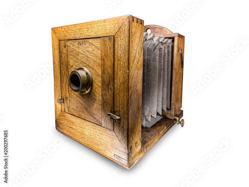 Old daguerreotype apparatus Canvas Print