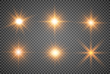 Lights Sparkles Isolated. Vect...