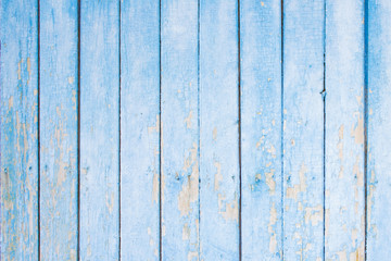 Old wooden texture. Blue background.