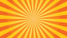 Sun Rays Sunburst Orange Yellow Background