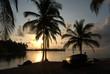 Isla con palmeras y aguas turquesa, en Sanblas, Guna Yala, Kuna Yala, Panamá. Paraiso tropical.