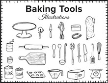Baking Tool Illustrations