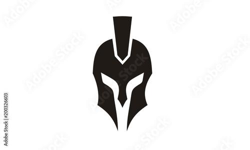 Fotografie, Obraz Spartan Head / Helmet logo design inspiration