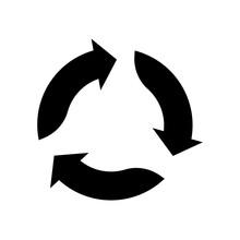Triangular Arrows Sign For Rec...