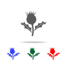Thistle Flower Icon. Elements Of United Kingdom Multi Colored Icons. Premium Quality Graphic Design Icon. Simple Icon For Websites, Web Design, Mobile App, Info Graphics